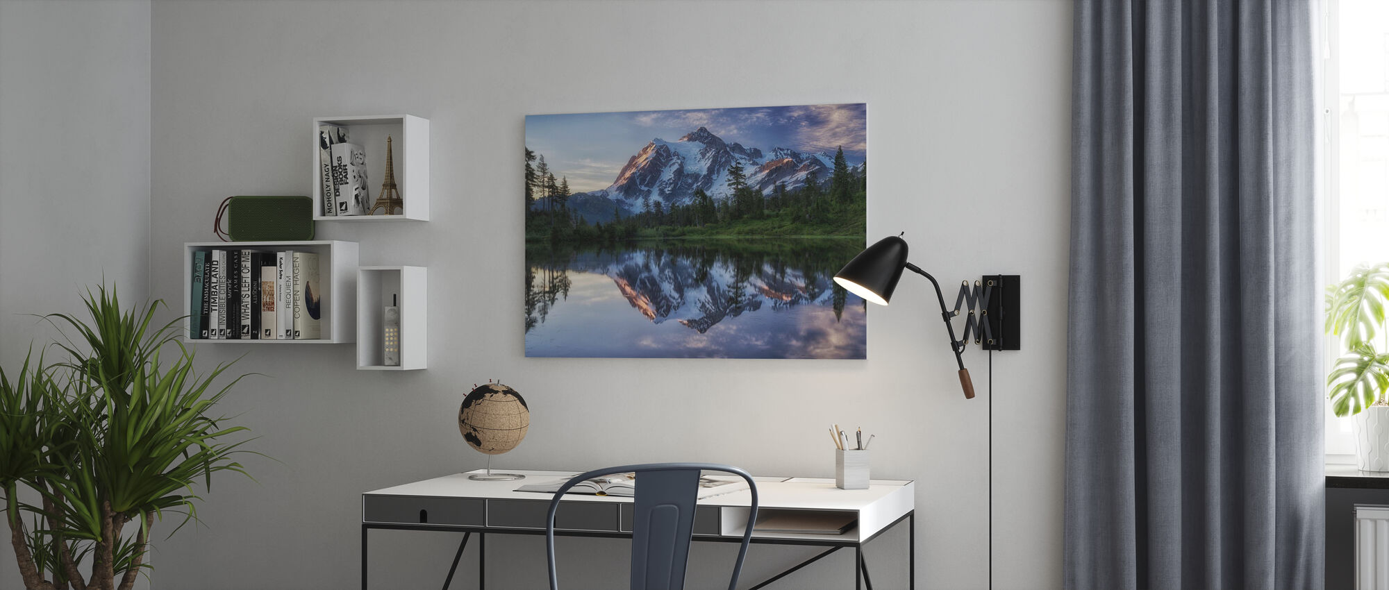 Sunrise on Mount Shuksan, Washington, USA - Canvas print - Office