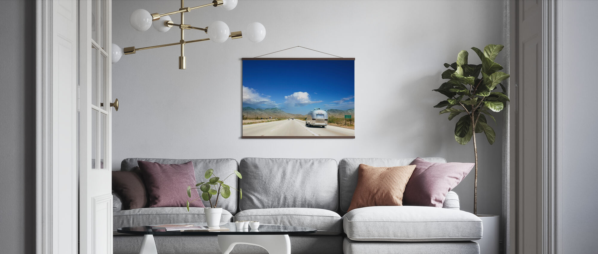 Caravan in Nevada, USA - Poster - Living Room