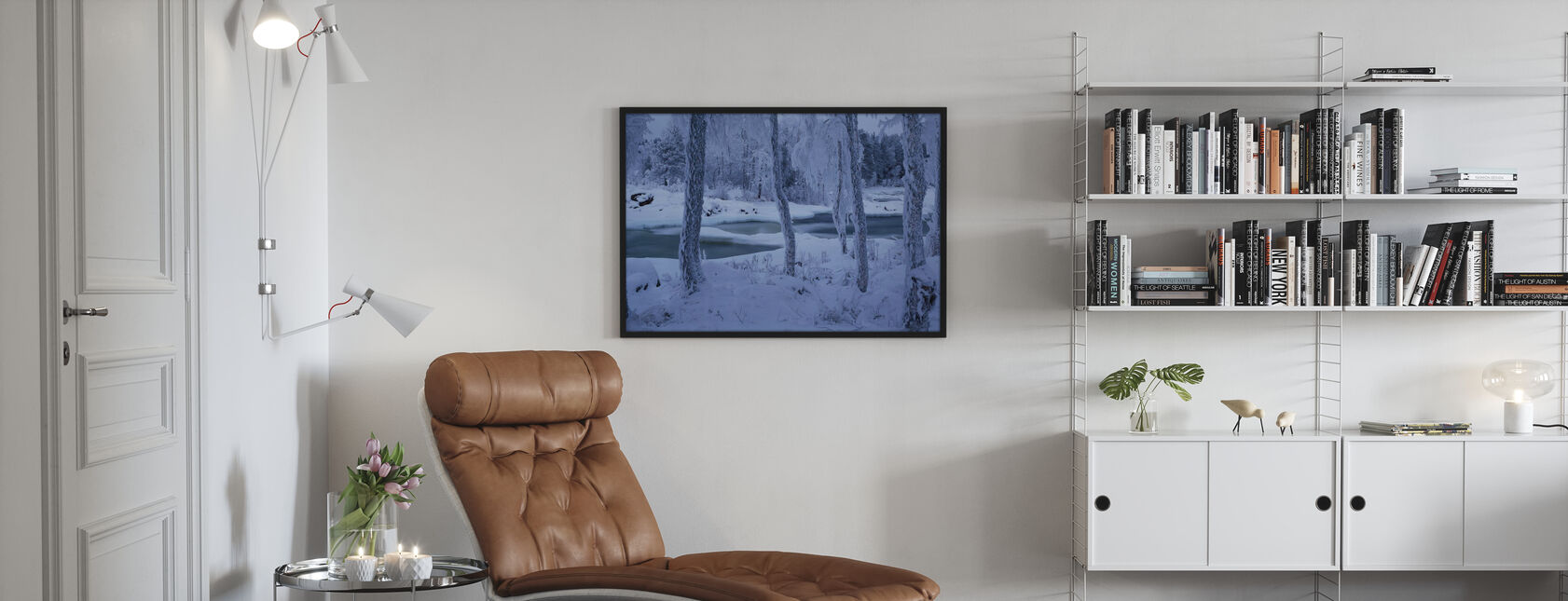 Kengisforsen im Winterkleid - Poster - Wohnzimmer