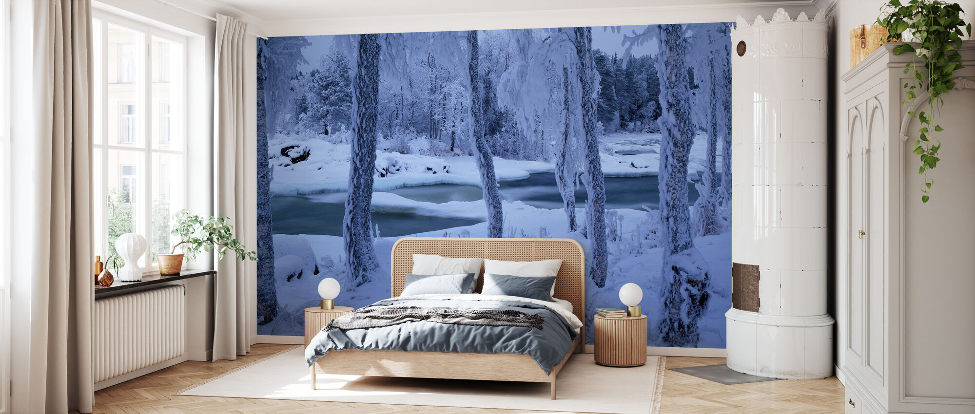 Kengisforsen in Winter Dress - Wallpaper - Bedroom