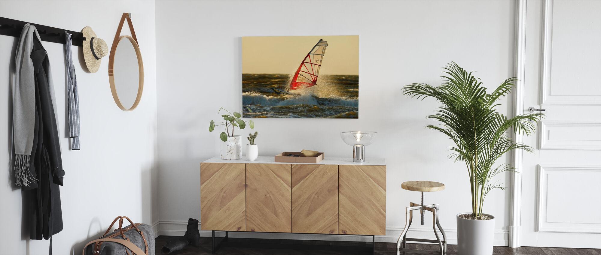 Surfen in Schweden, Europa - Leinwandbild - Flur