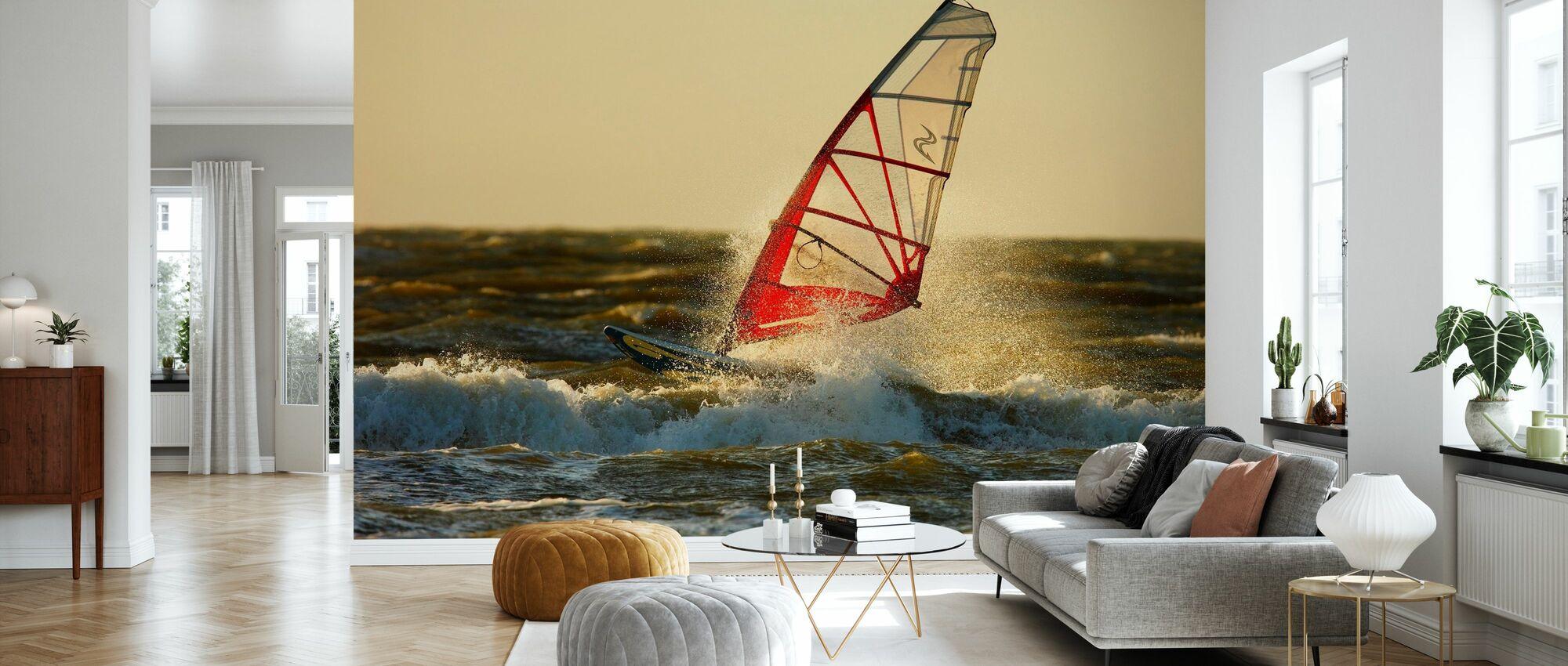 Surfing in Sweden, Europe - Wallpaper - Living Room