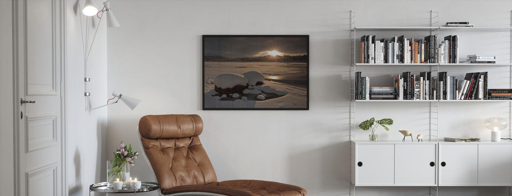 Loch Morlich Frozen Over - Framed print - Living Room