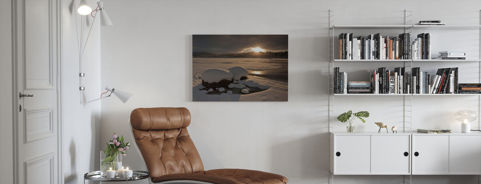 Loch Morlich Frozen Over - Canvas print - Living Room