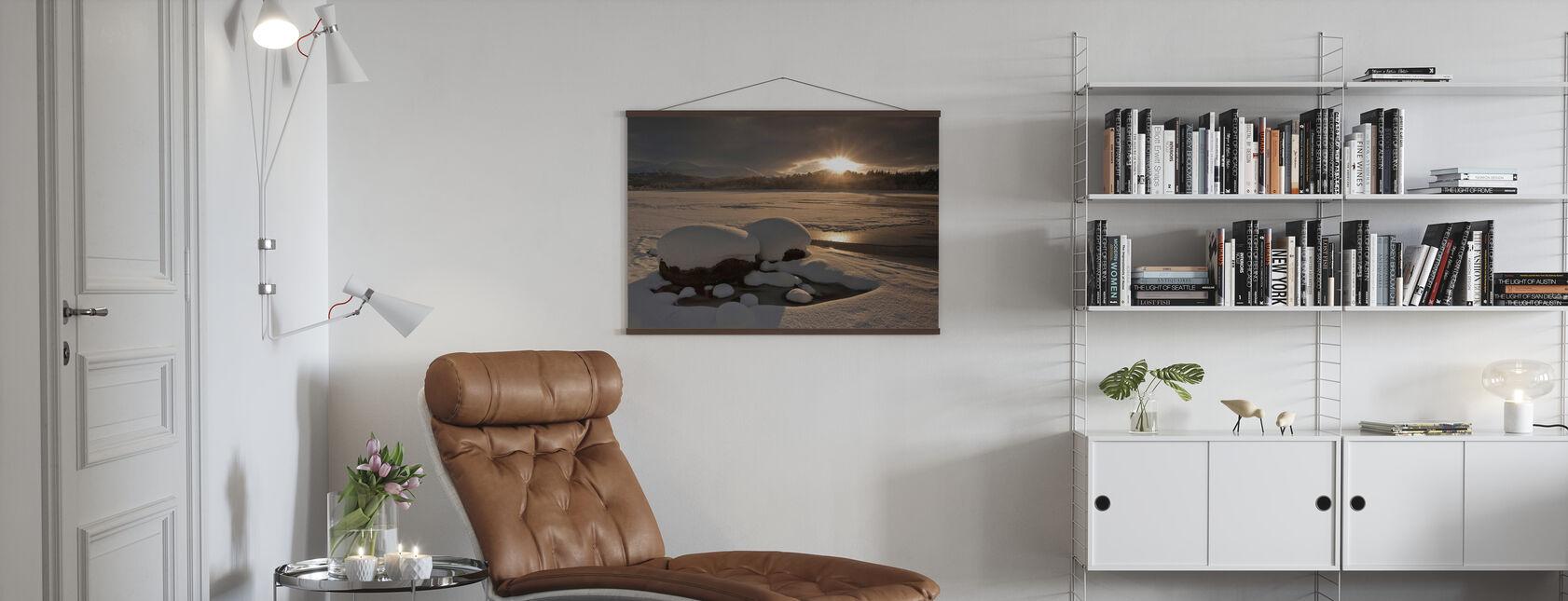 Loch Morlich fryst över - Poster - Vardagsrum