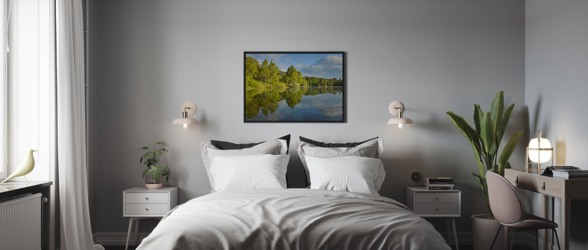 Loch Vaa in Spring - Poster - Bedroom