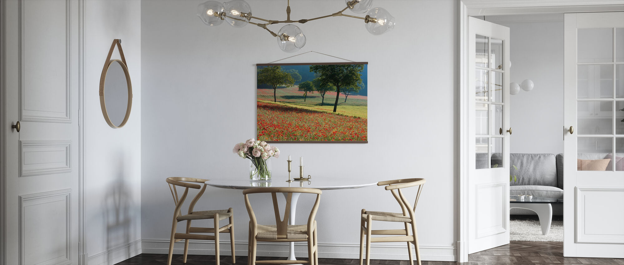 Poppies Flowering in a Field - Poster - Kitchen