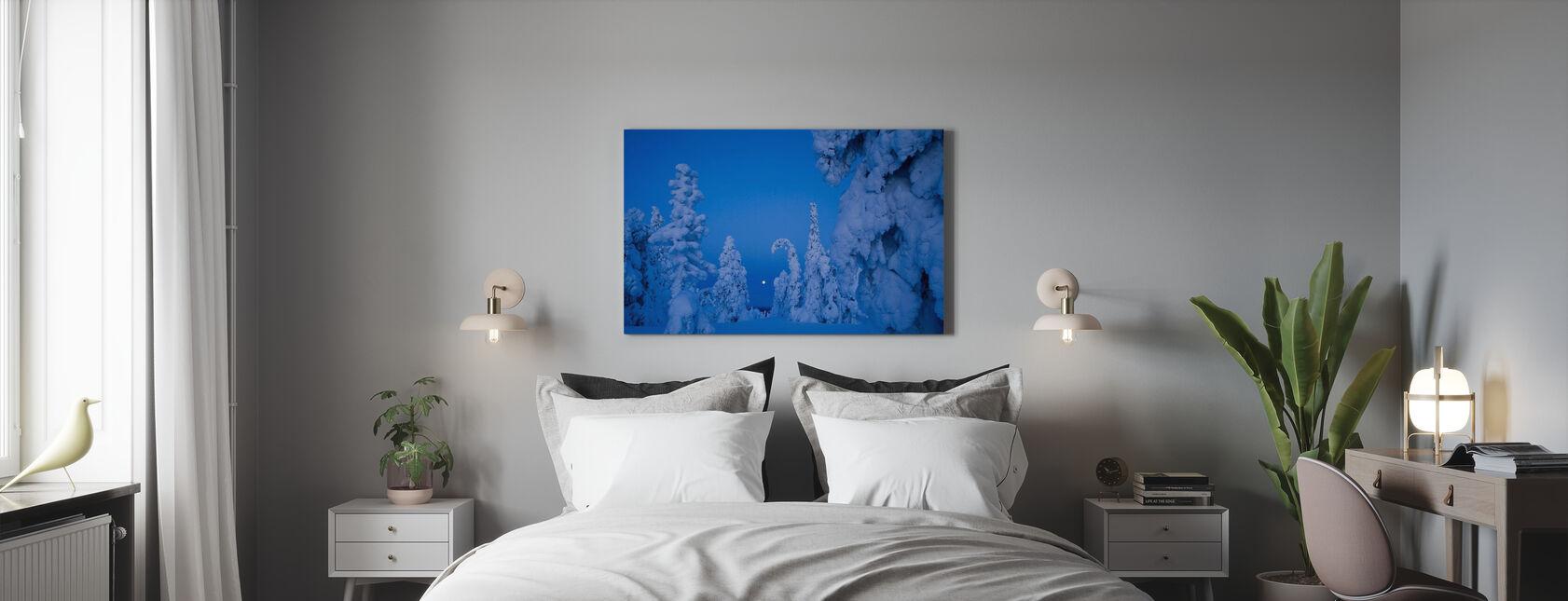 Zone boisée de la taïga chargée de neige - Impression sur toile - Chambre
