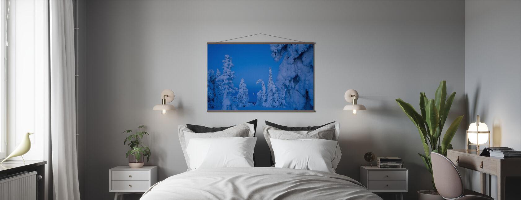 Sneeuw beladen Taiga Bos - Poster - Slaapkamer