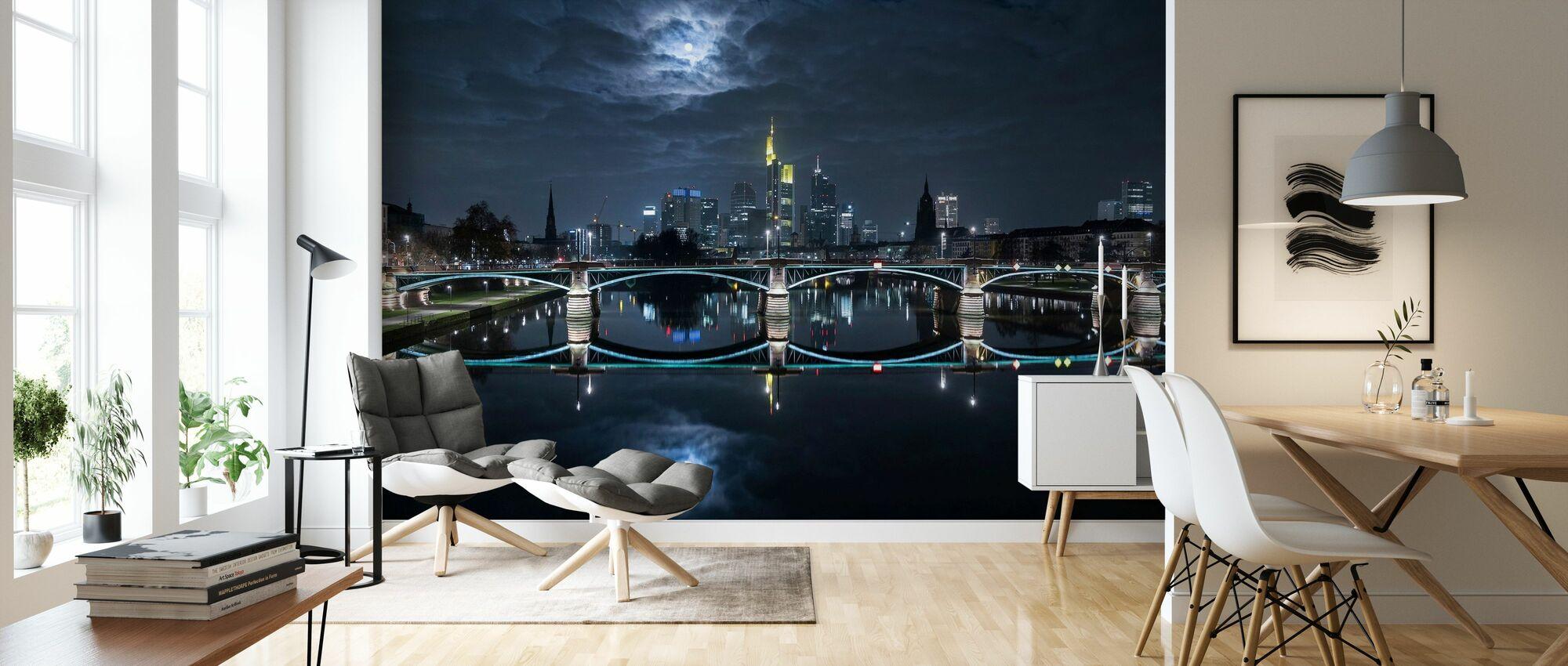 Frankfurt at Full Moon - Wallpaper - Living Room