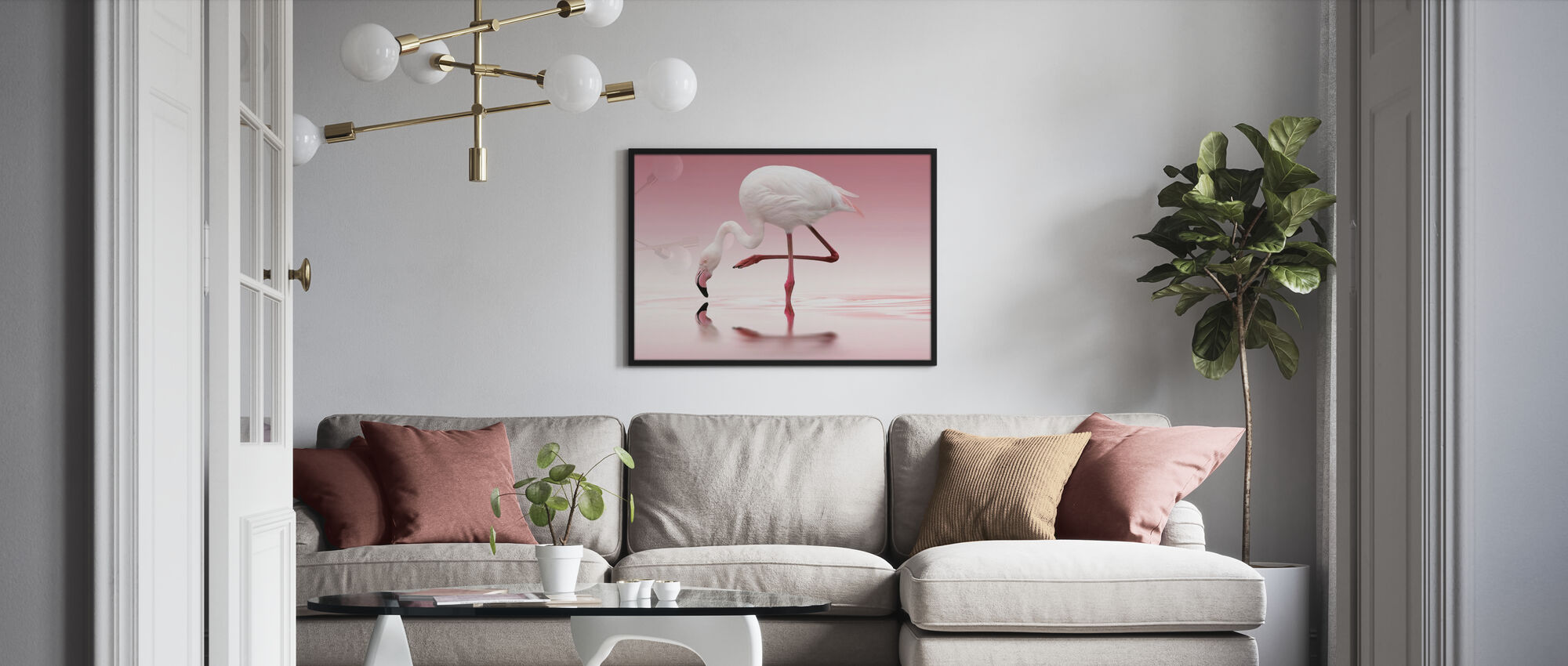 Pink Flamingo - Poster - Living Room