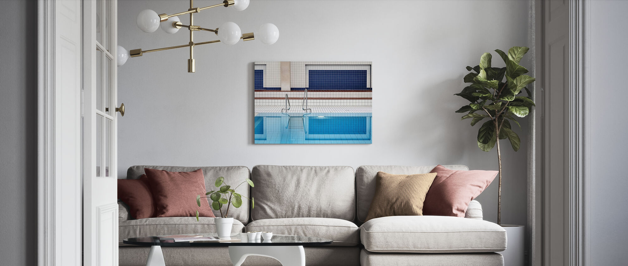 Swimming - Canvas print - Living Room