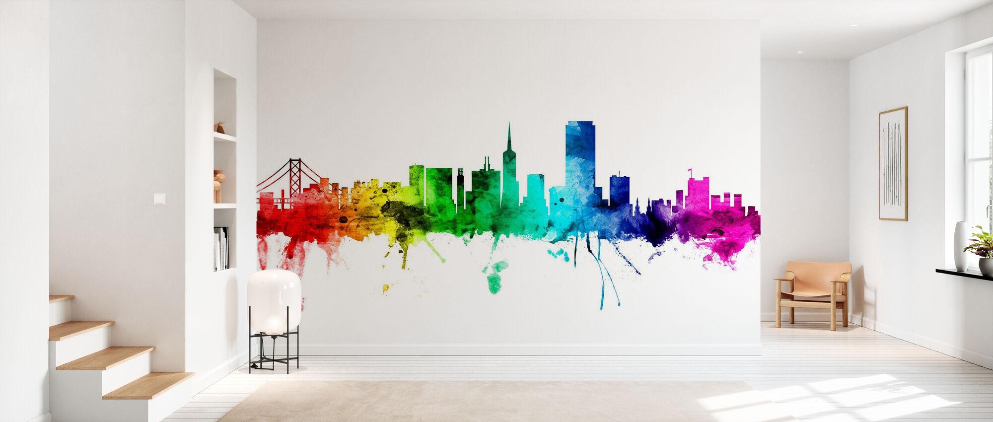 San Francisco Skyline Rainbow - Wallpaper - Hallway