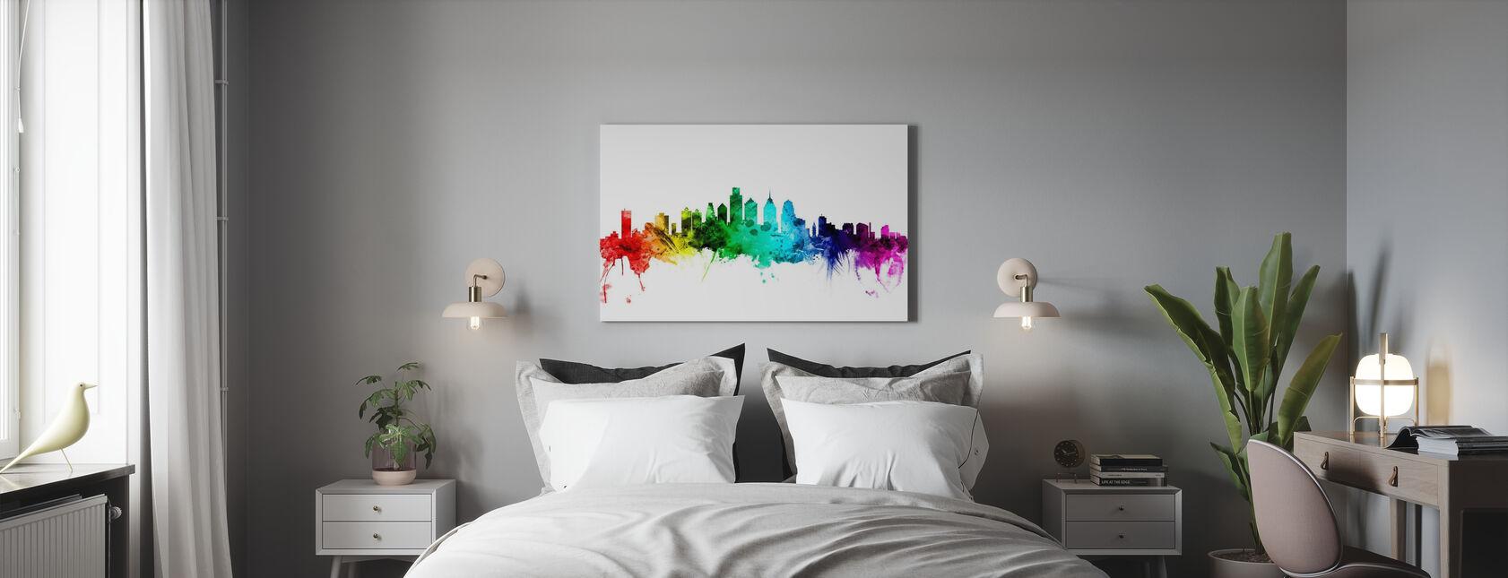 Philadelphia Pennsylvania Skyline Rainbow - Canvas print - Bedroom