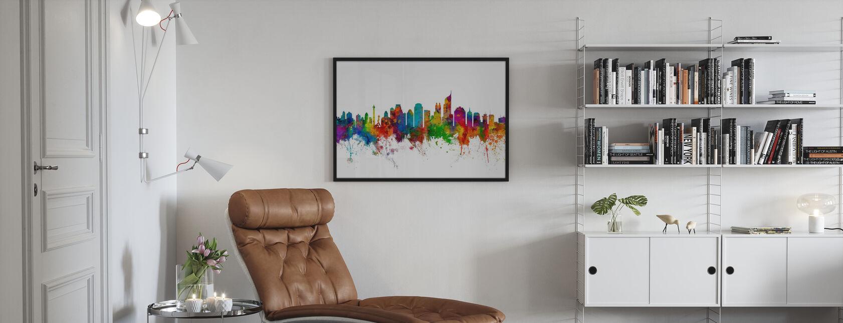 Jakarta Skyline - Poster - Woonkamer