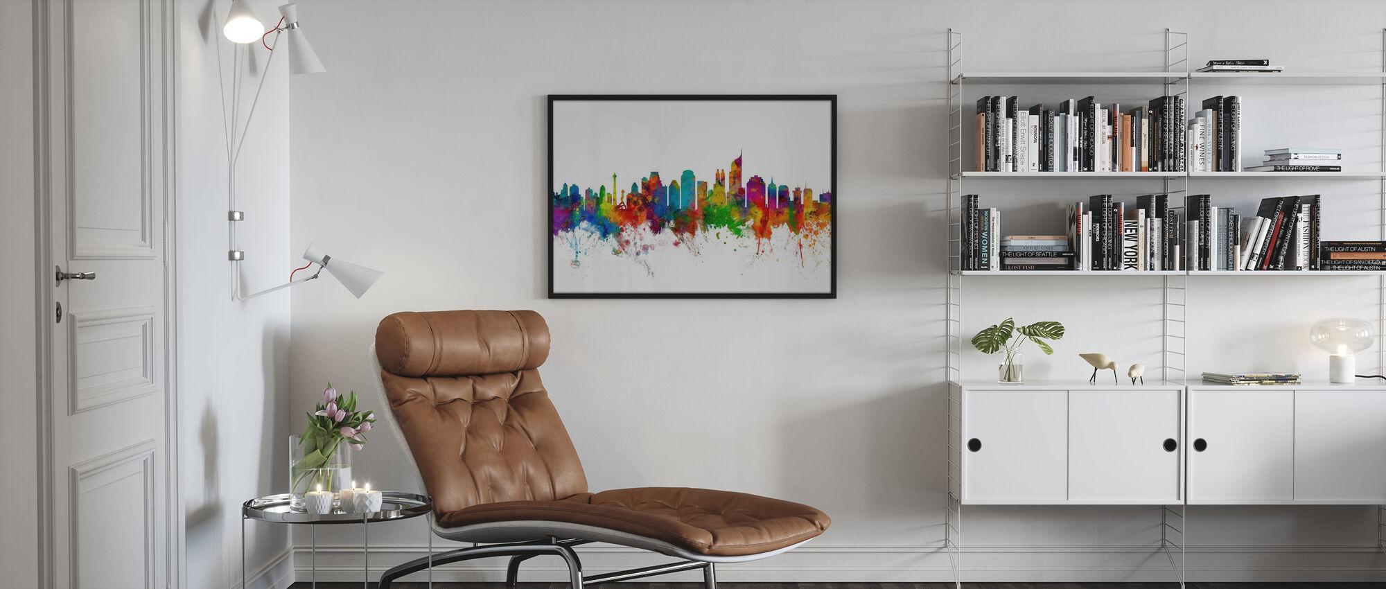Skyline von Jakarta - Poster - Wohnzimmer