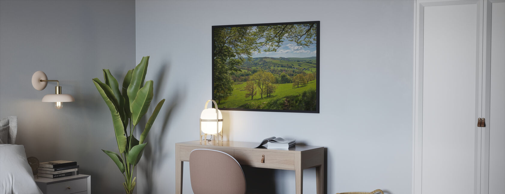 English Country Scene - Framed print - Bedroom