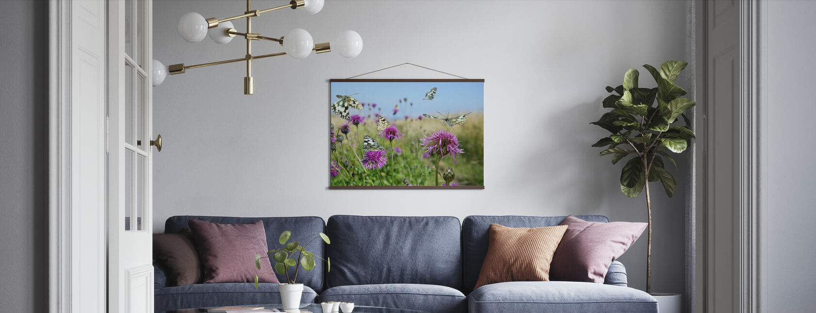 Marbled White Butterflies - Poster - Living Room