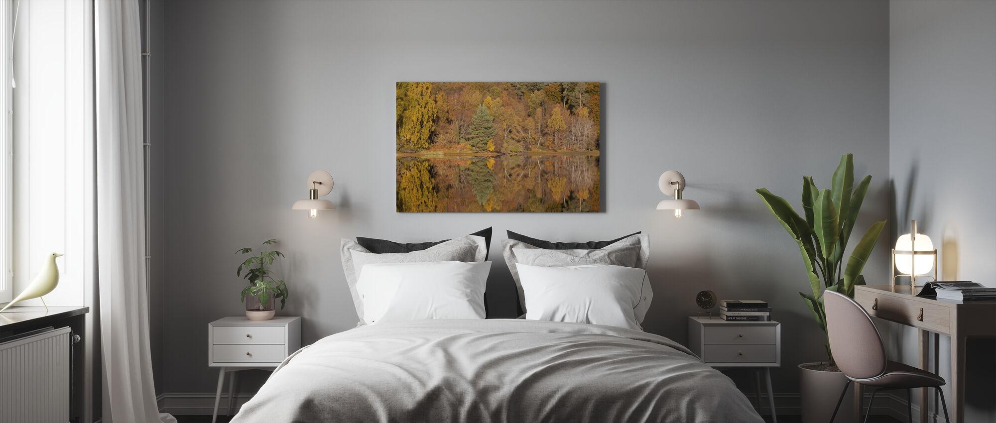 Trees Reflecting in Loch Vaa, Highlands, Scotland, UK - Canvas print - Bedroom