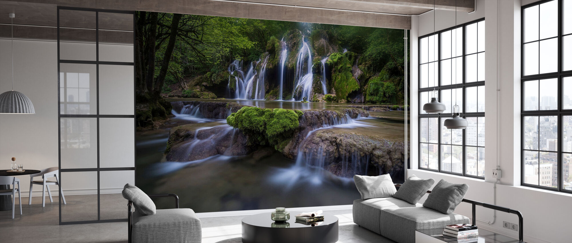 View of La Cascade des Tufs, France, Europe - Wallpaper - Office