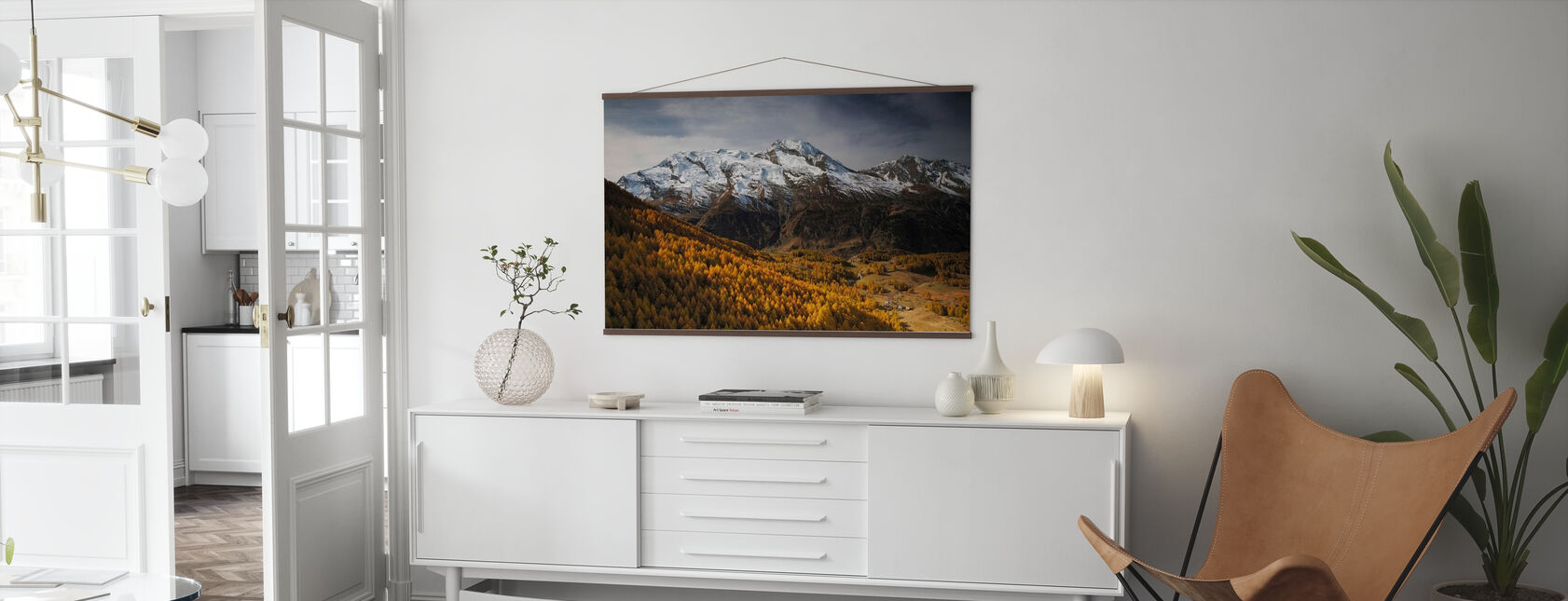 View of Le Mont Pourri - Poster - Living Room