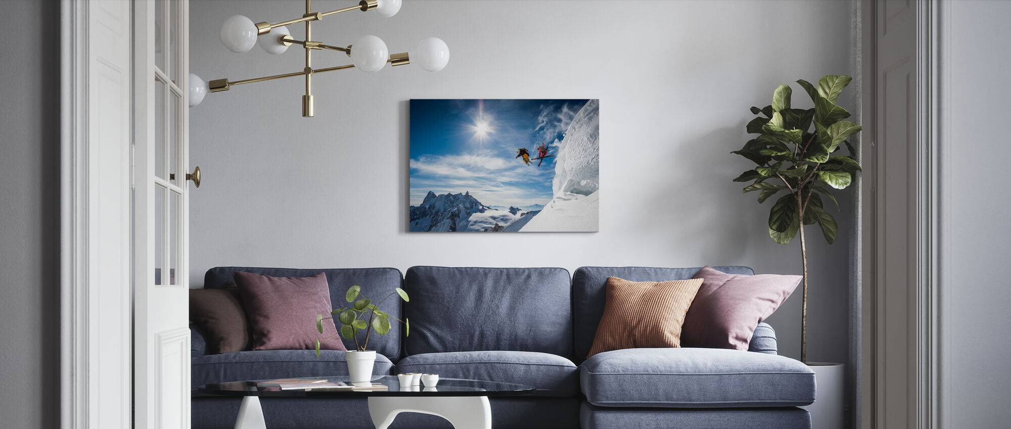 Jumping Legends - Canvas print - Living Room