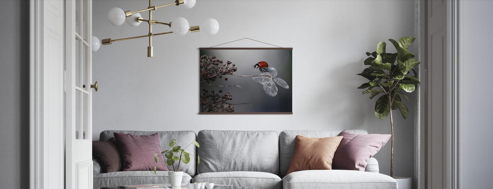 Leppäkerttu Hydrangea - Juliste - Olohuone