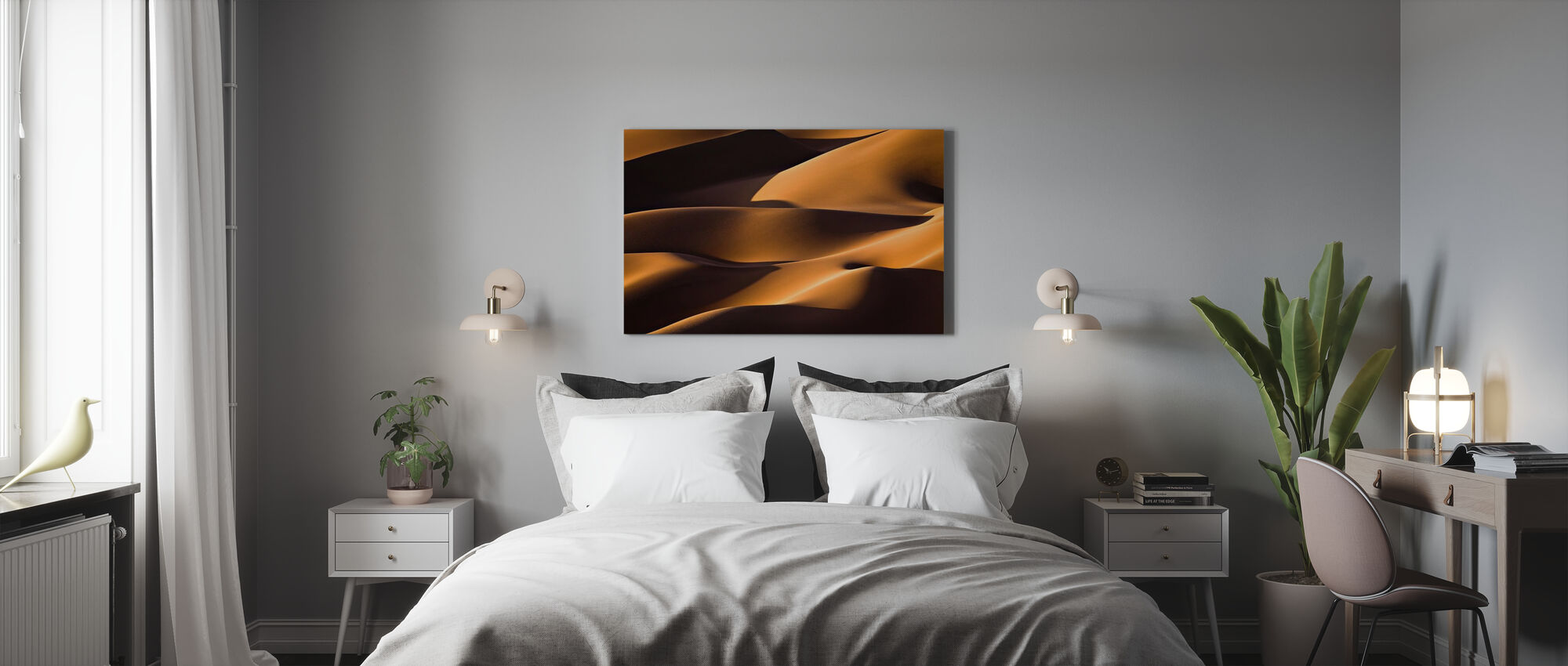 Light and Shadow - Canvas print - Bedroom