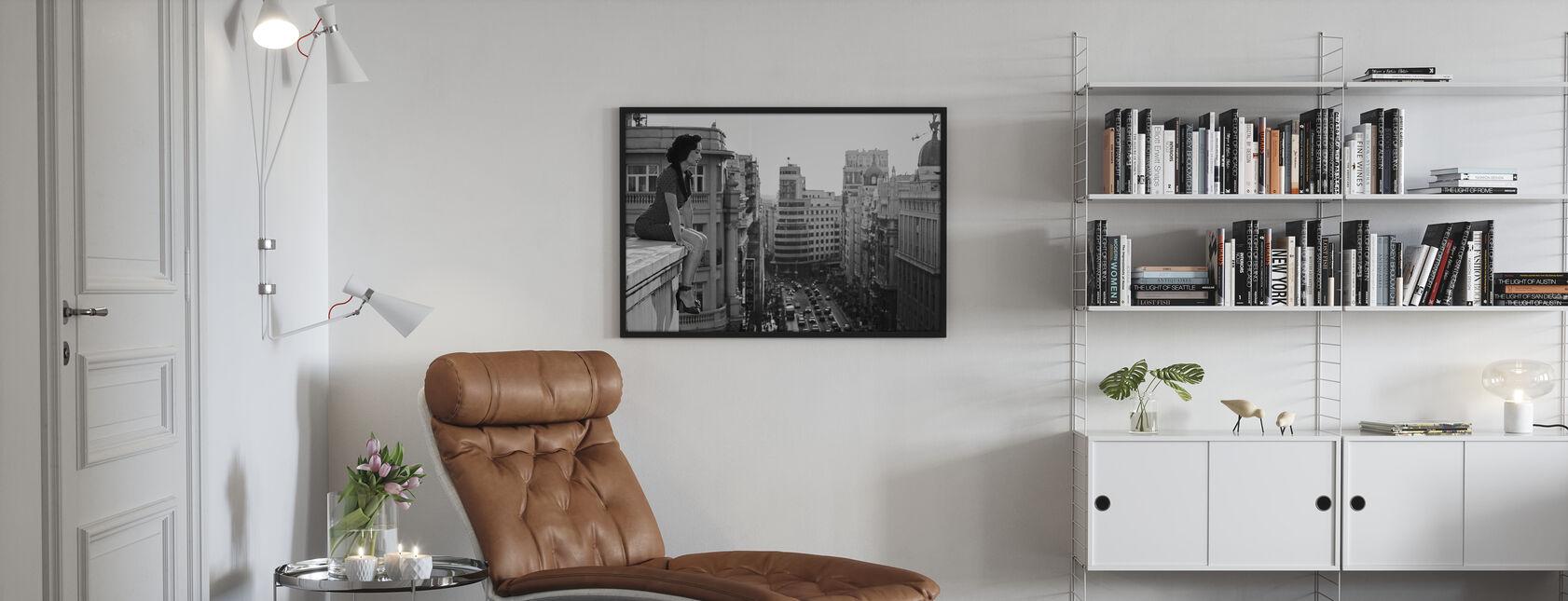 Mad Madrid, schwarz-weiß - Poster - Wohnzimmer