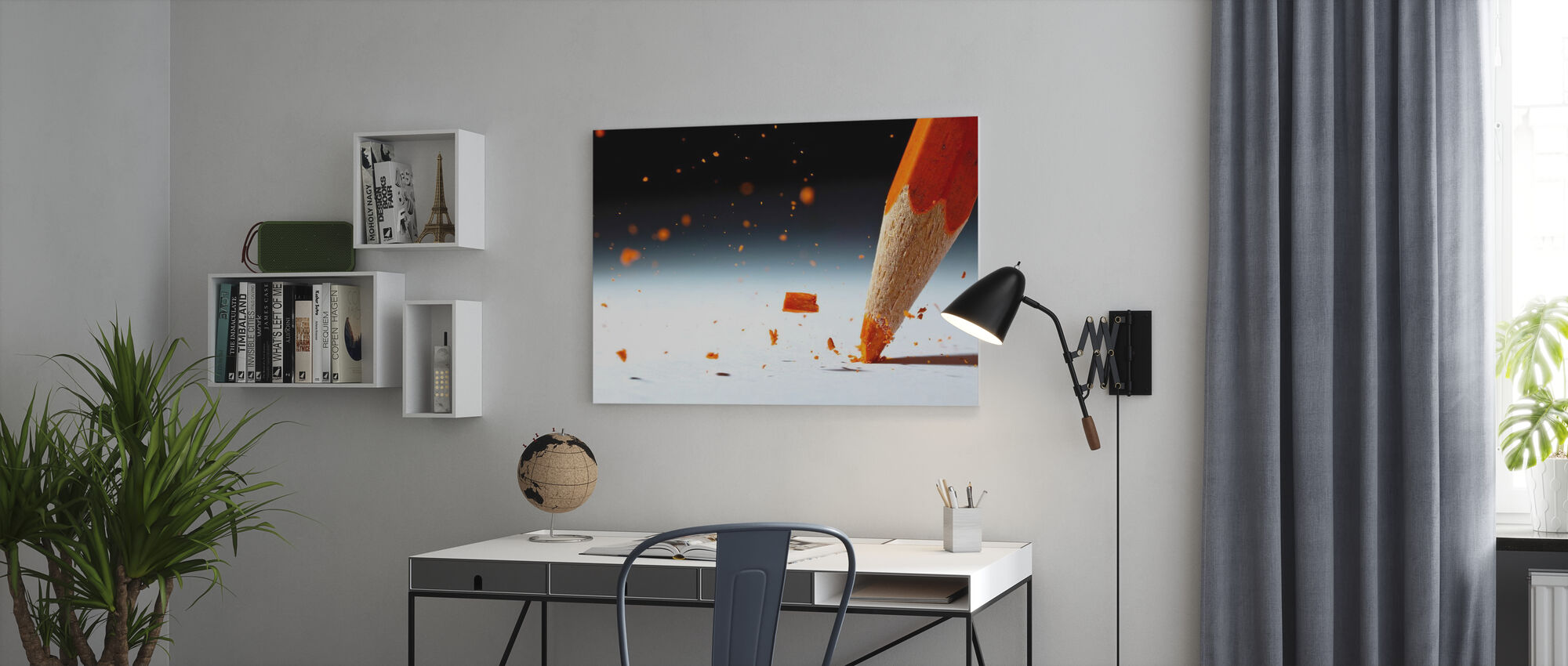 Laat het regenen - Canvas print - Kantoor