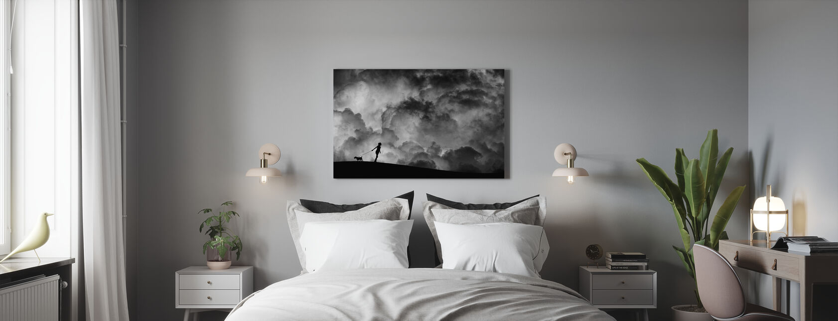 Prelude to the Dream, black and white - Canvas print - Bedroom