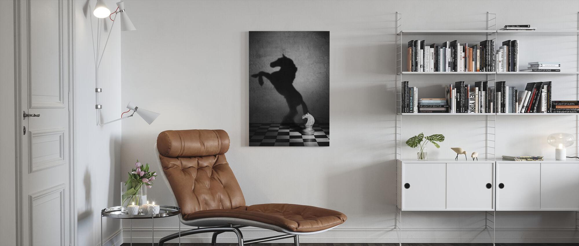 En Mustangs själ, svart och vitt - Canvastavla - Vardagsrum