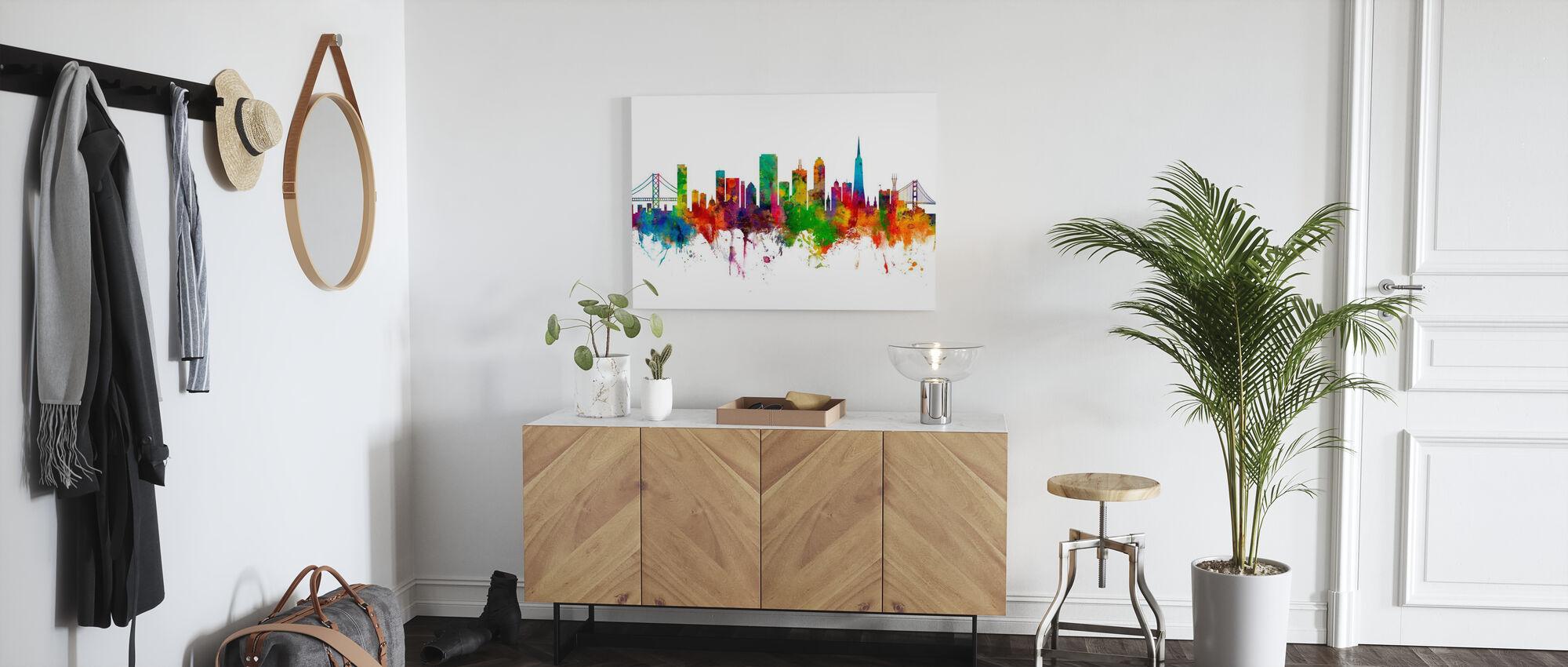 San Francisco City Skyline - Canvas print - Hallway