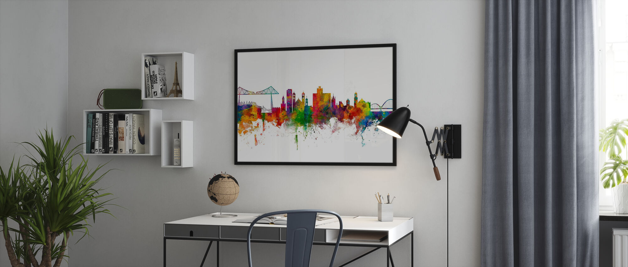 Middlesbrough Skyline - Poster - Office