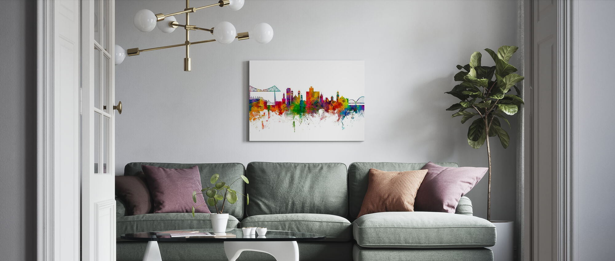 Middlesbrough Skyline - Canvas print - Living Room