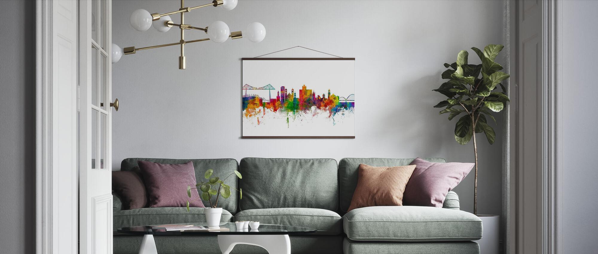 Middlesbrough Skyline - Poster - Living Room