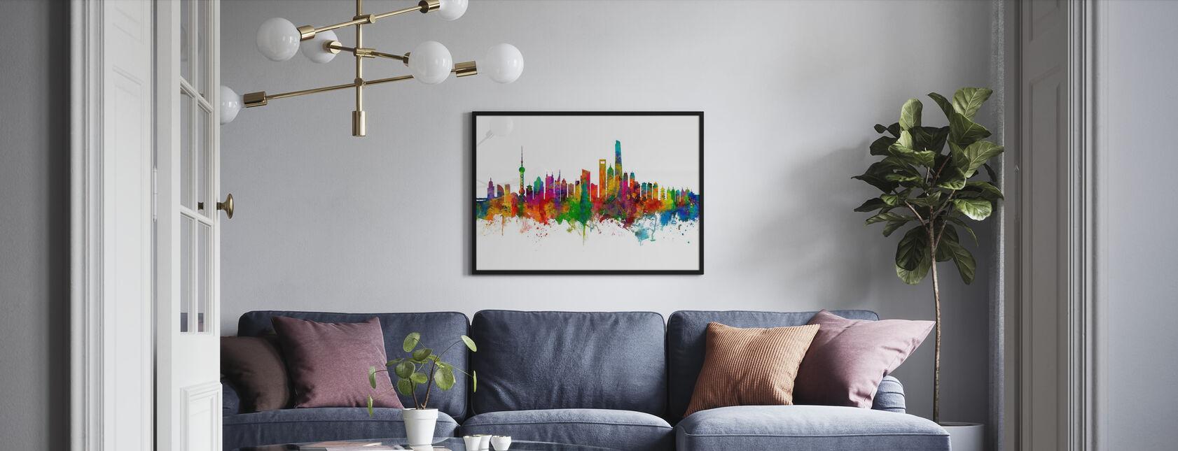 Shanghai Skyline - Poster - Living Room