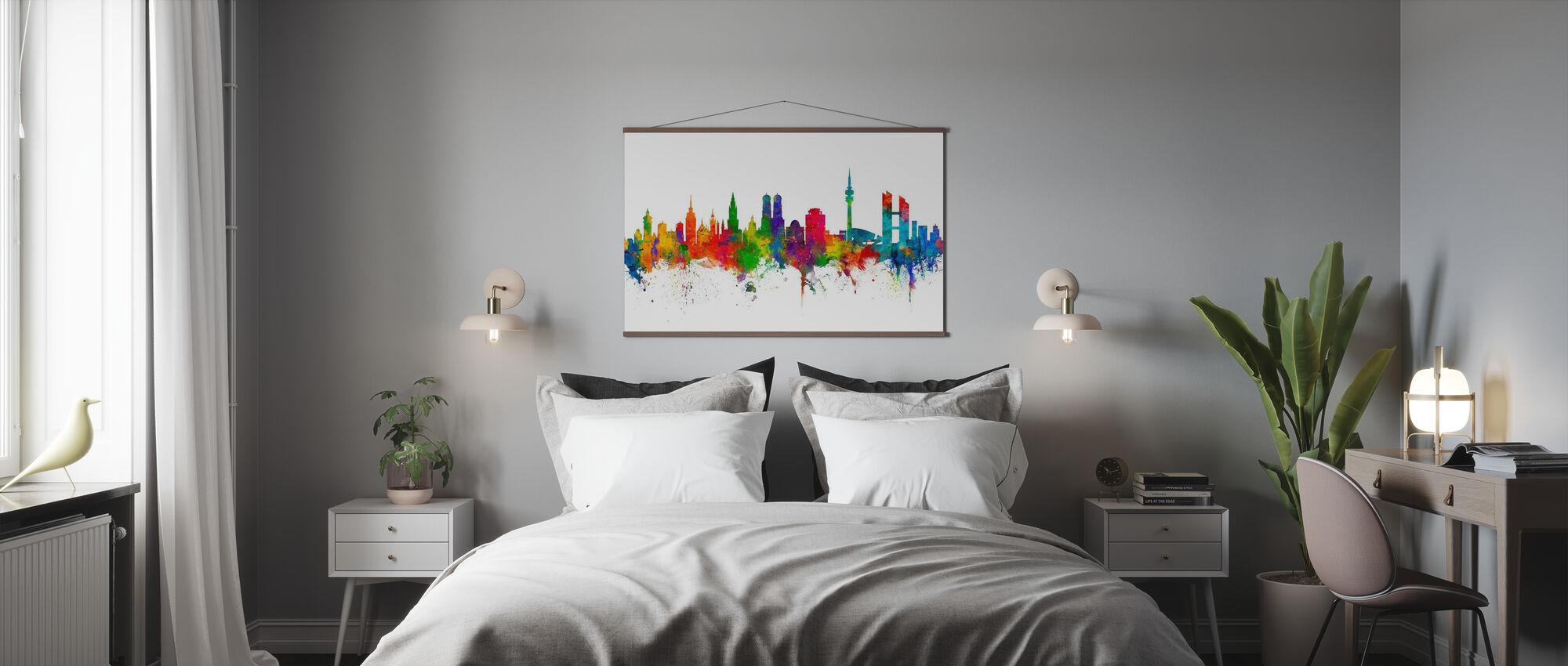 Skyline München - Poster - Schlafzimmer