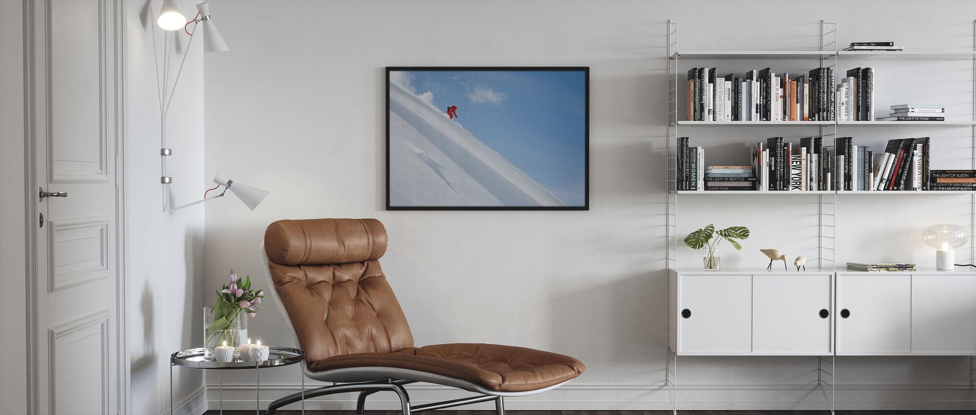 Off Piste Skiing - Poster - Living Room