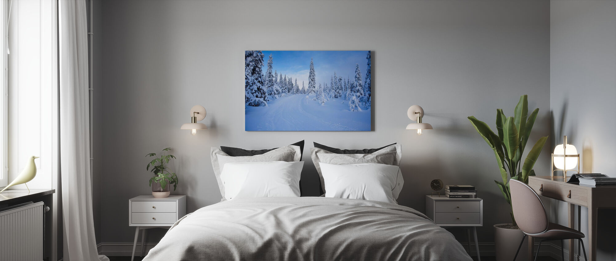 Ski track in Dalarna, Sweden - Canvas print - Bedroom