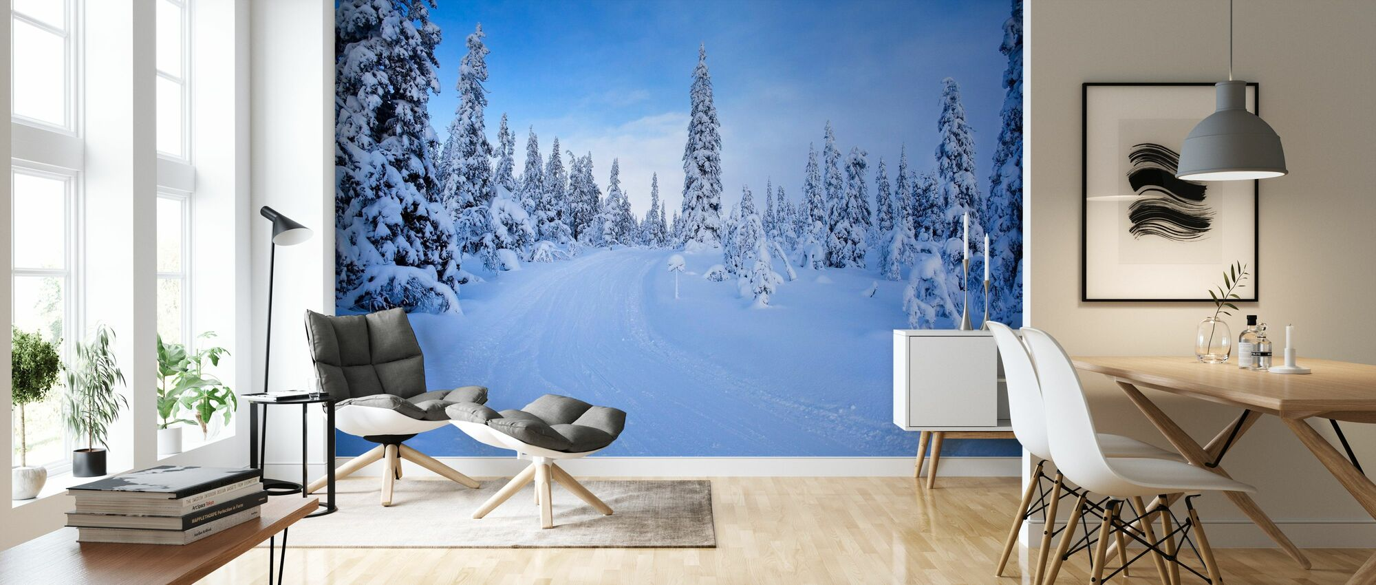 Ski track in Dalarna, Sweden - Wallpaper - Living Room
