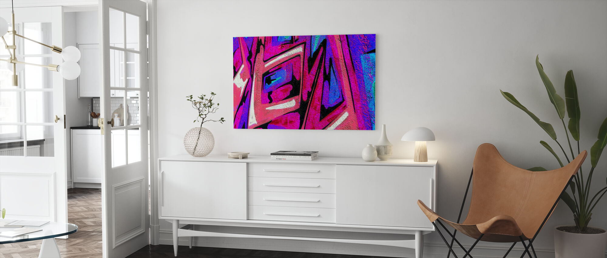 Graffiti Shape - Canvas print - Living Room