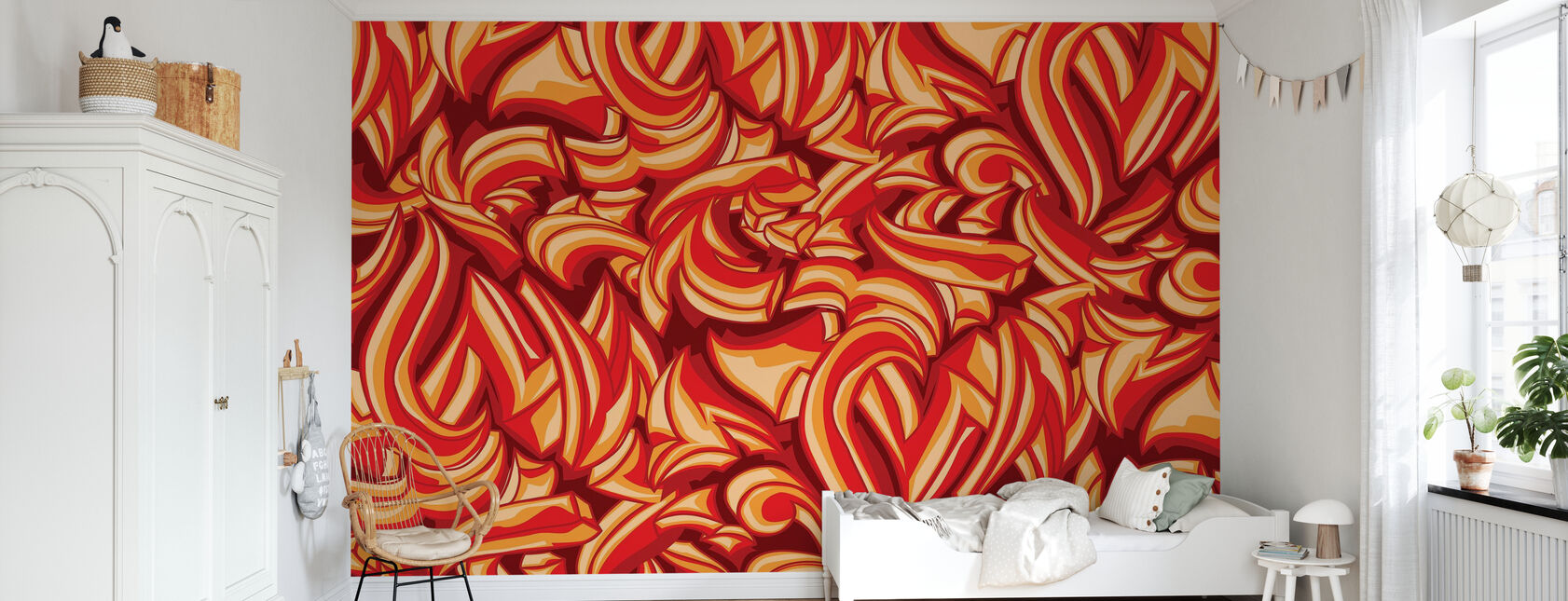 Skitse Splat Graffiti - Tapet - Børneværelse