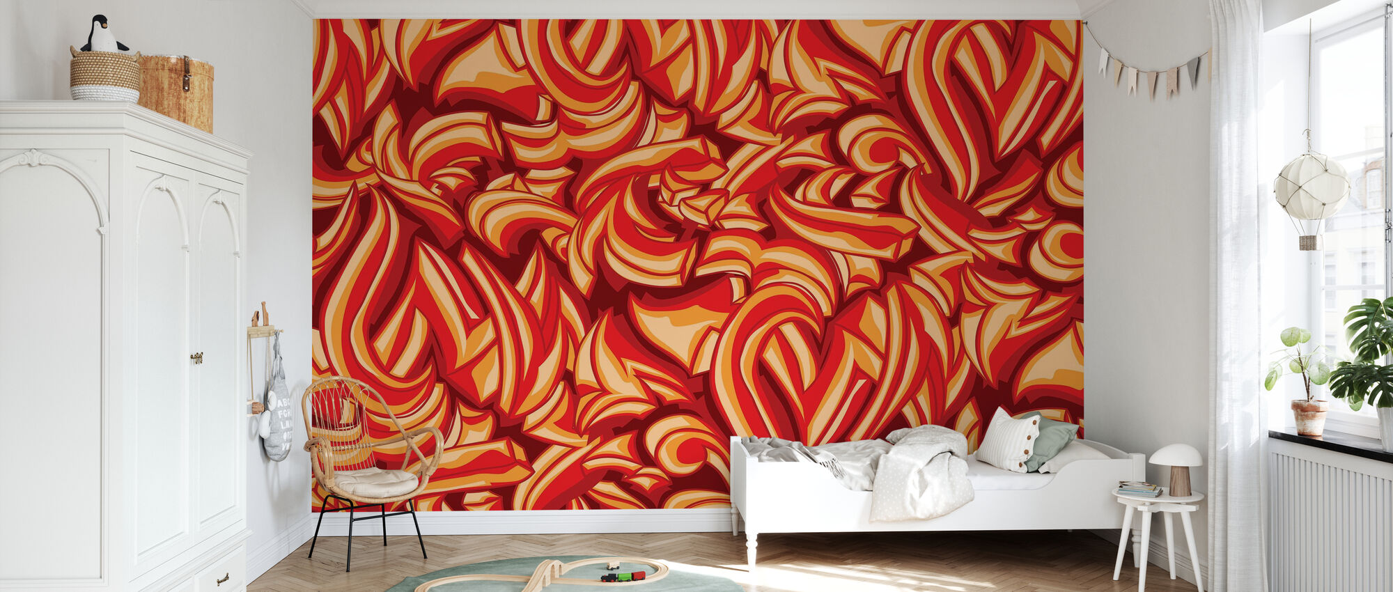 Sketchy Splat Graffiti - Wallpaper - Kids Room