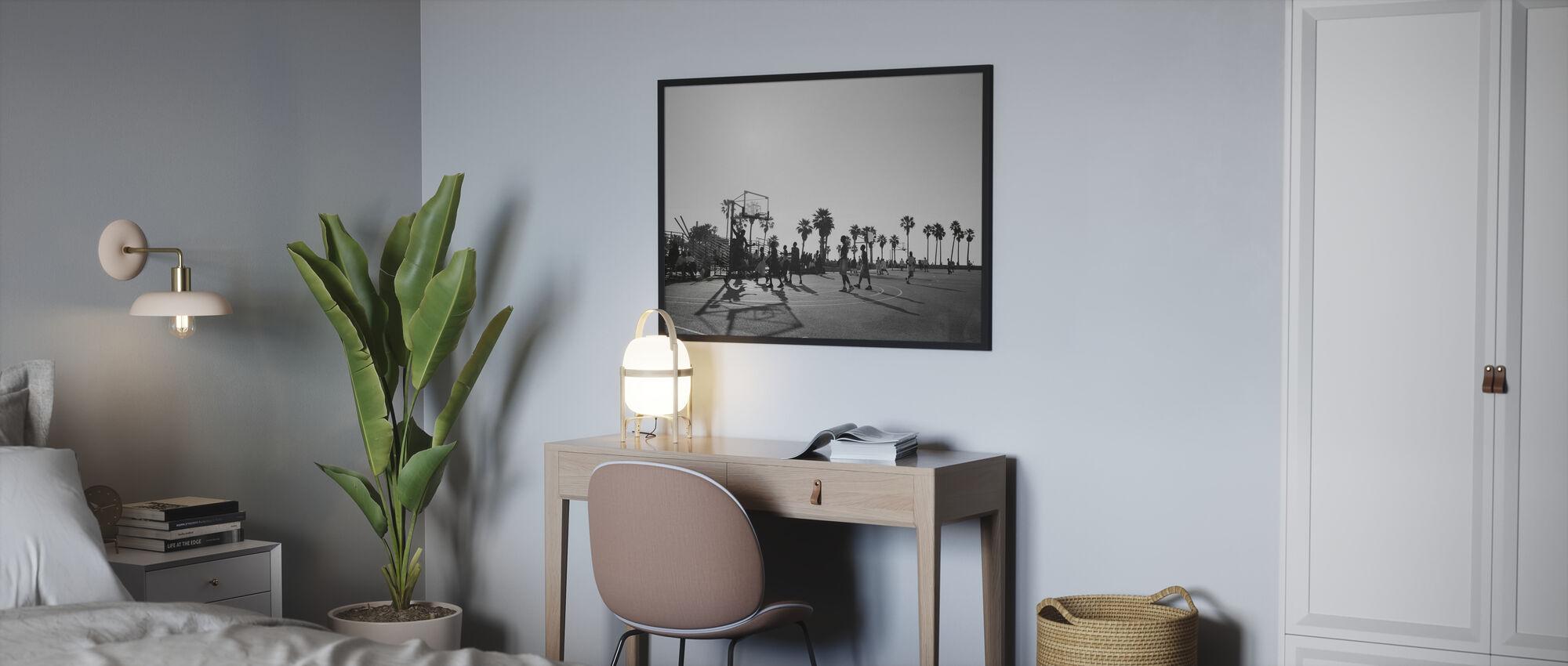 Basket på gatorna i Los Angeles, Kalifornien - Inramad tavla - Sovrum