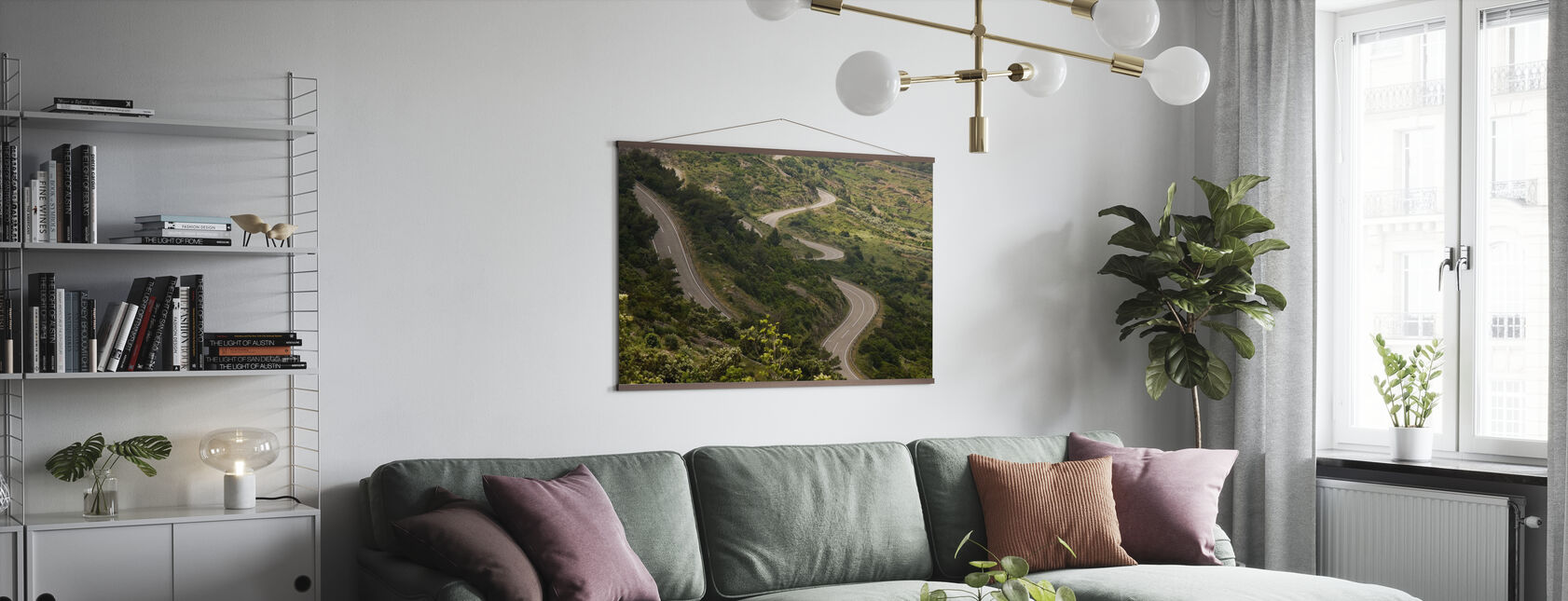 Country Road, Croatia - Poster - Living Room