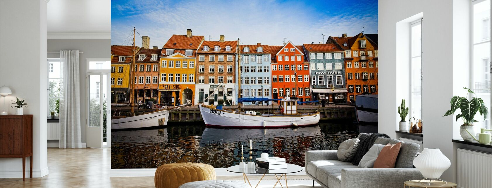 Både i Nyhavn, København, Danmark - Tapet - Stue