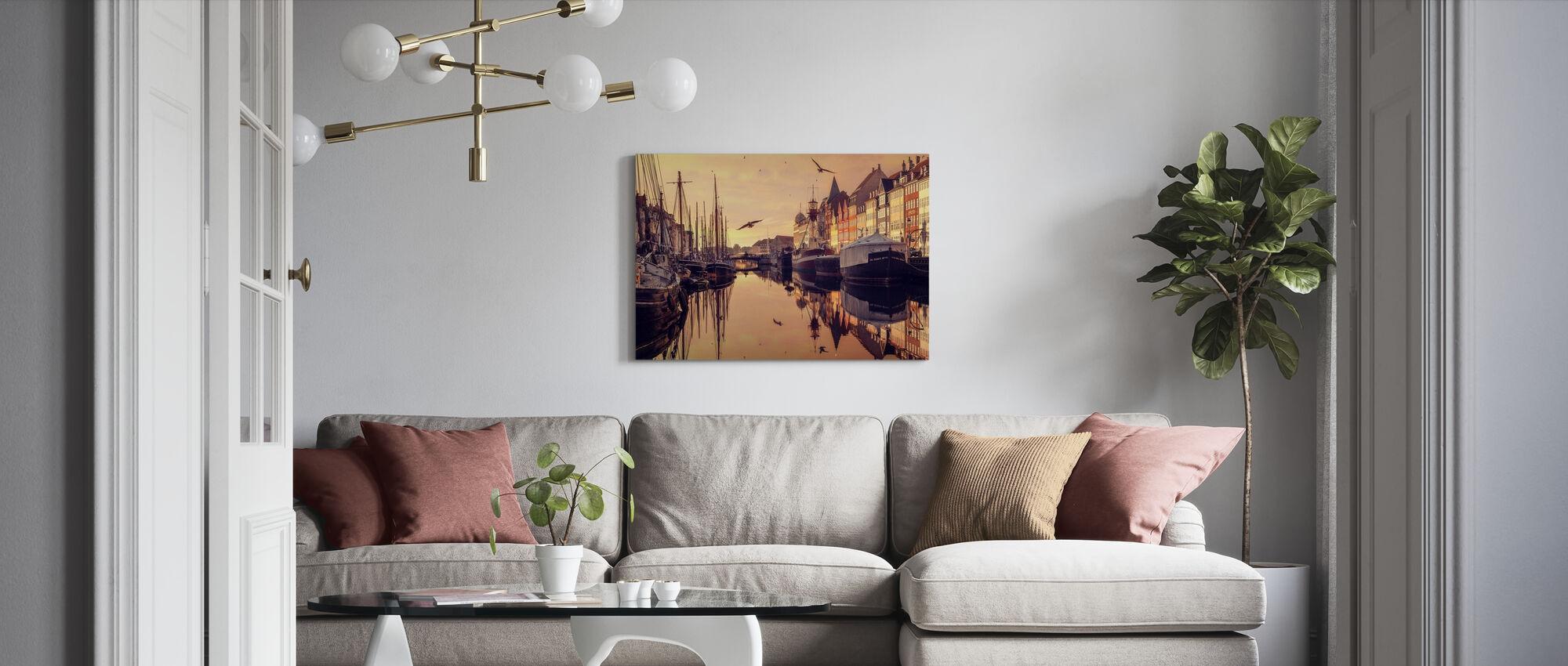 Romantic Köpenhamn, Danmark - Canvastavla - Vardagsrum