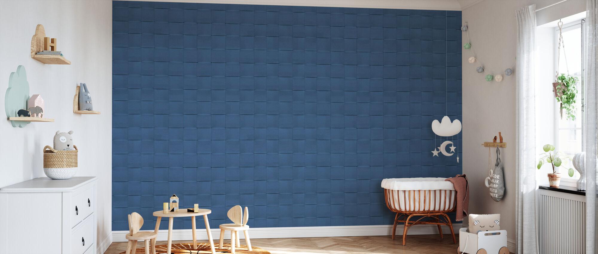 Paper Recycling Denim - Wallpaper - Nursery