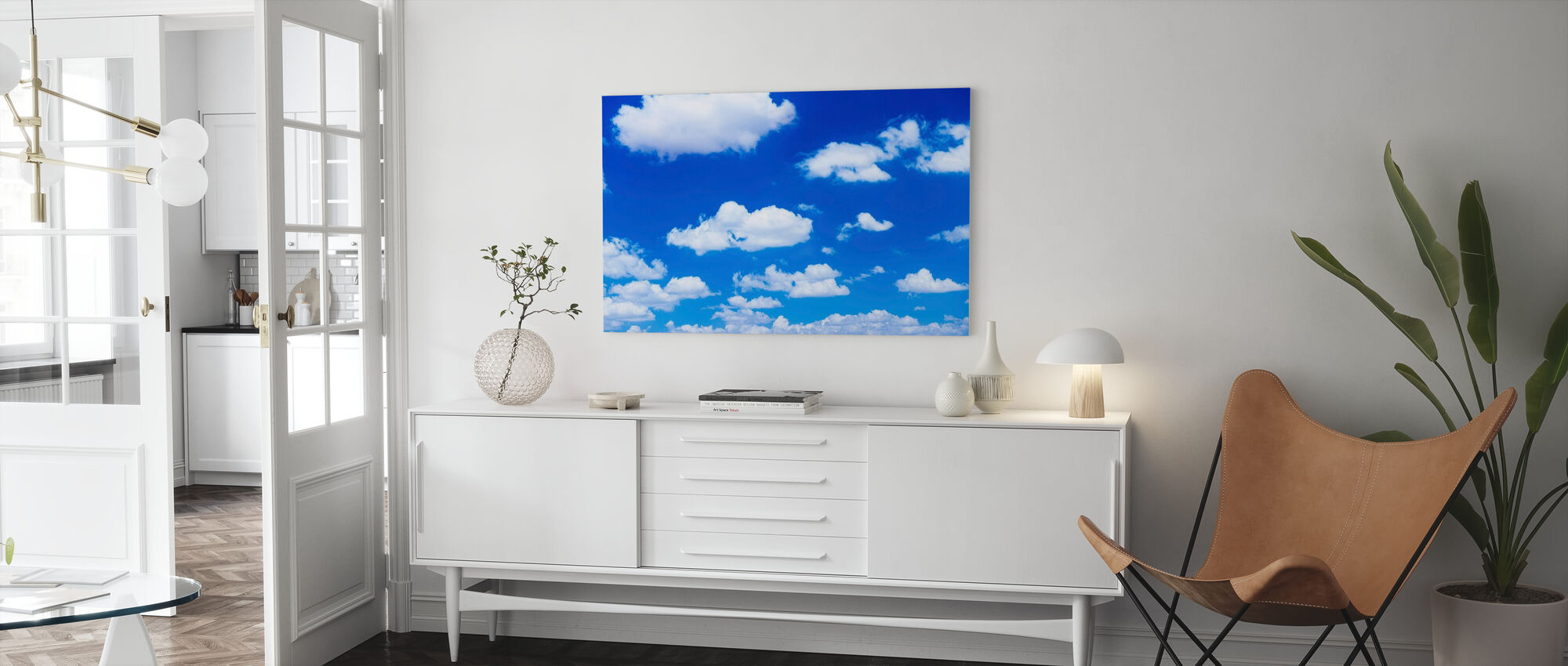 Cumulus Clouds - Canvas print - Living Room